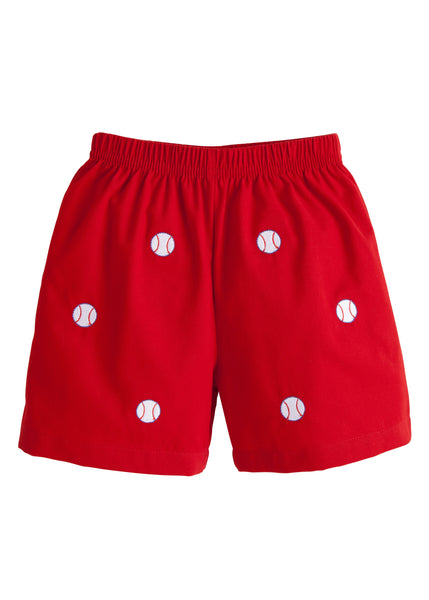 Baseball Embroidered Shorts Little English