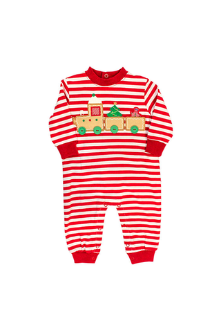 Gingerbread Train Knit Romper The Bailey Boys