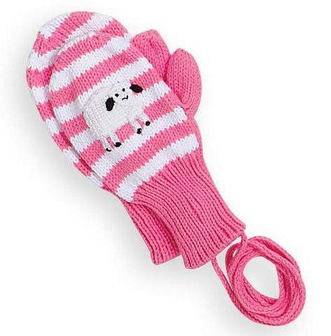 Sheep Applique Stripe Mittens Bella Bliss
