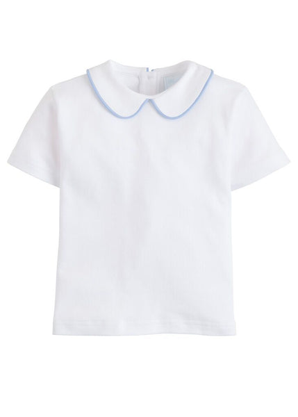 Piped Peter Pan Short Sleeve Little English