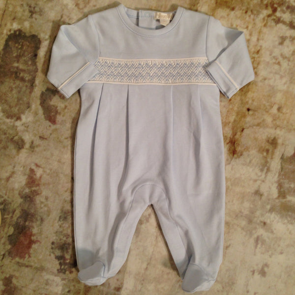 CLB Smocked Fall Footie Kissy Kissy