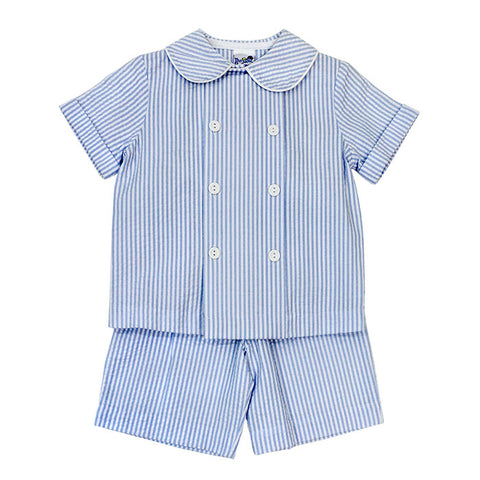 Blue Stripe Dressy Shorts Set The Bailey Boys