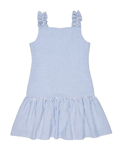 Blue Stripe Seersucker Dress Florence Eiseman