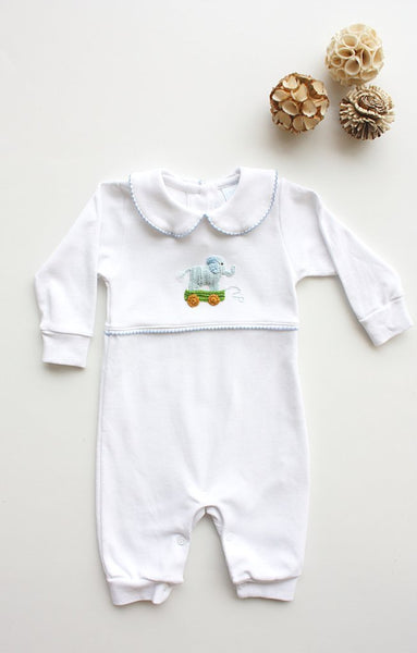Elephant Boy Crochet Playsuit Little English
