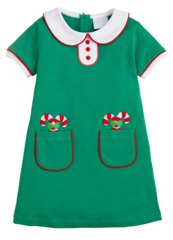Candy Cane Applique Dress Little English