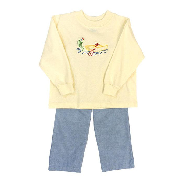 Canoe Stitch Pants Set Bailey Boys