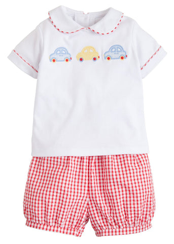 Car Applique Peter Pan Short Set Little English