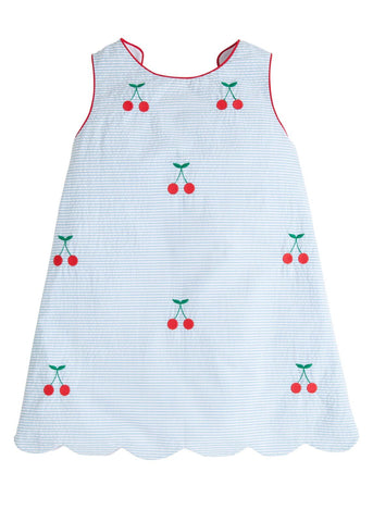 Cherry Bow Back Dress Little English