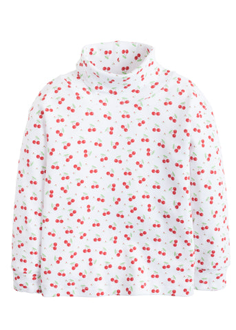 Cherry Print Turtleneck Little English