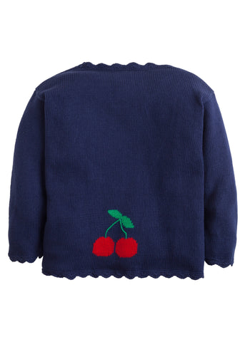 Cherry Intarsia Cardigan Little English