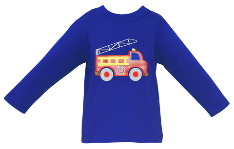 Firetruck L/S Tee Claire & Charlie