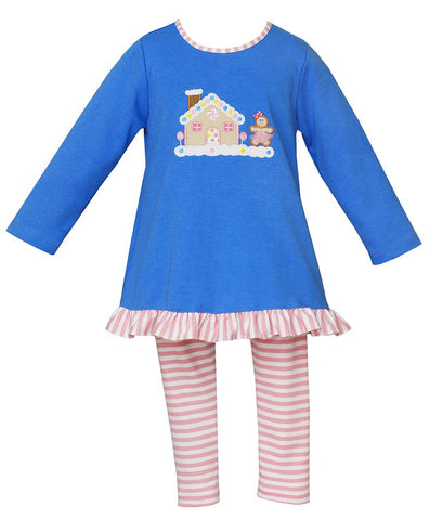Gingerbread House Tunic Set Claire & Charlie