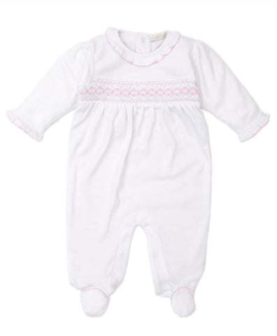 CLB Fall Smocked Footie Kissy Kissy