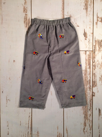 Construction Emb Reversible Pants Zuccini