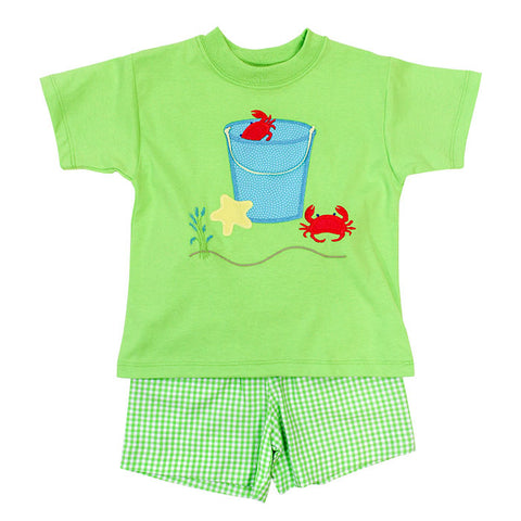 Bucket w/Crabs Boys Toddler Shorts Set Bailey Boys