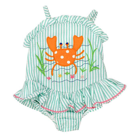 Crab Ruffle Swimsuit