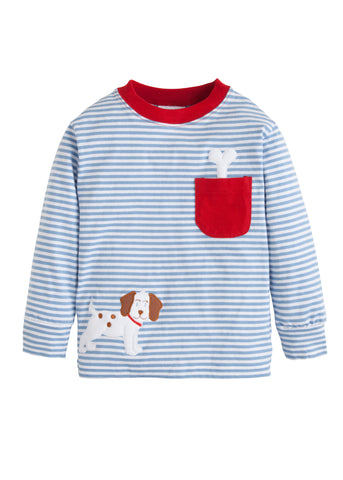Puppy Pocket Applique Tee Little English
