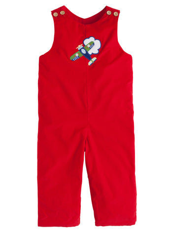Airplane Applique Overall Little English