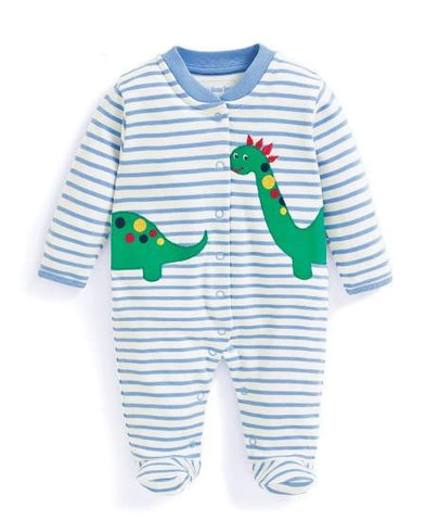 Dino Applique Footie Jojo Mama Bebe