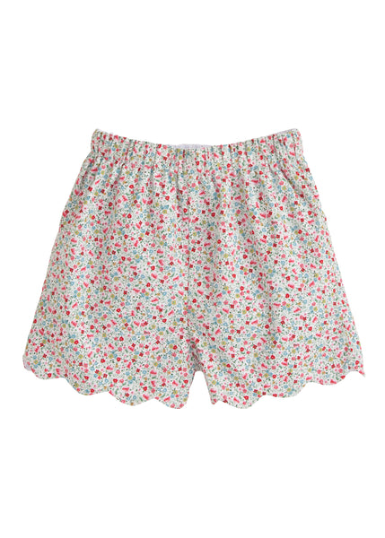 Ditsy Floral Scallop Shorts Little English