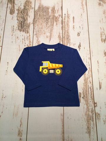 Dump Truck L/S Tee Luigi Kids Royal Blue