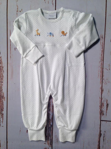 Embroidered Zoo Romper Squiggles