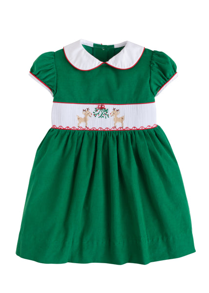 Reindeer Smocked Charlotte Dress Little English