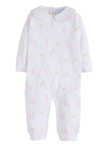 Bunny Printed Pink Playsuit Little English