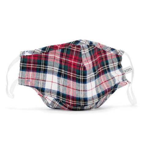 Festive Tartan Child Face Mask Petite Plume