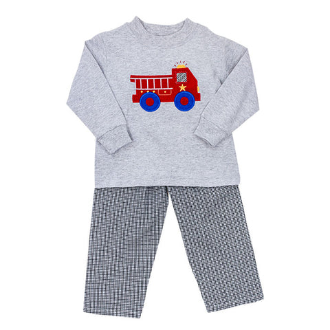 Firetruck Pants Set Toddler Bailey Boys