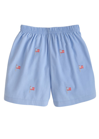 Flag Embroidered Shorts Little English