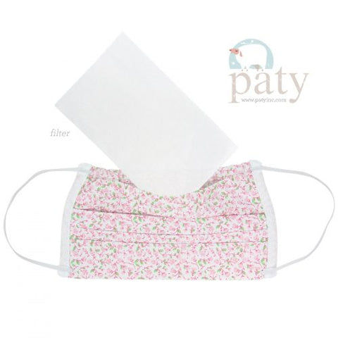 Pink Floral Print Cloth Mask-Kids by Paty Inc.