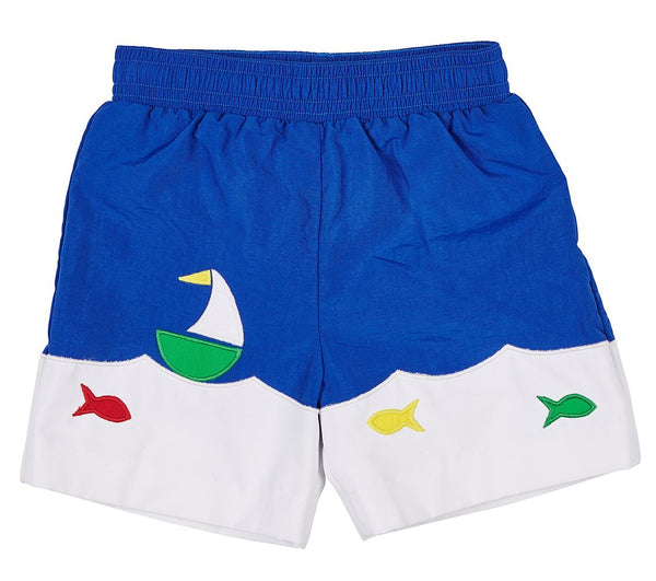 Boat & Fish Swim Trunks Florence Eiseman