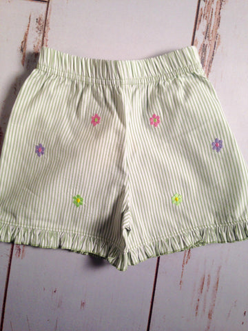 Flower Emb Ruffle Shorts Luigi Kids