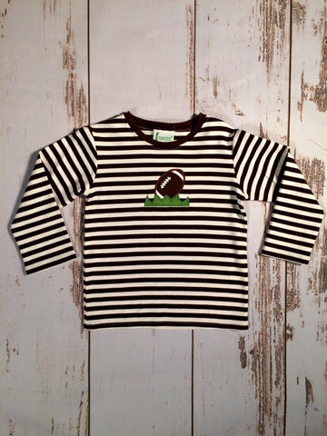 Football L/S Stripe Tee Zuccini
