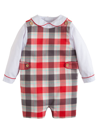 Homestead Plaid John John Set Little English