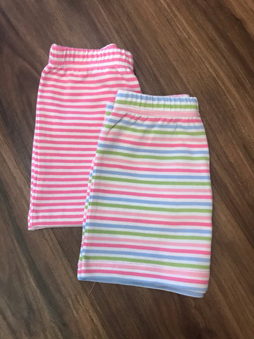 Narrow Stripe Basic Girl Shorts Luigi Kids
