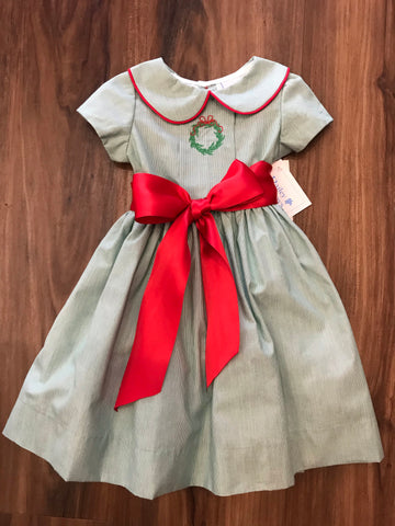 Wreath Dress w/Sash The Bailey Boys
