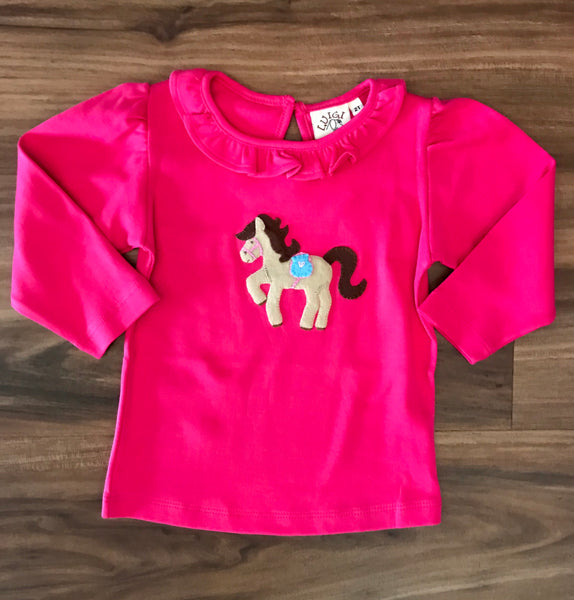 Horse Child  L/S Ruffle Tee Luigi Kids