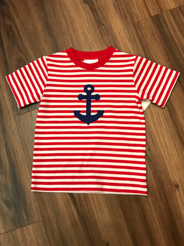 Anchor Applique S/S Tee Zuccini Kids