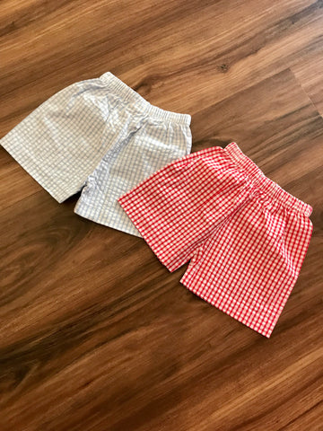 Basic Gingham Boy Short Little English