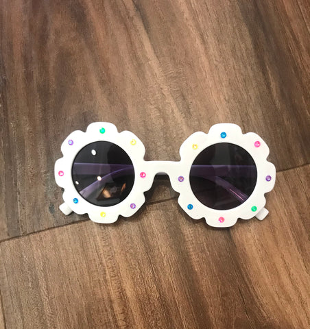 Flower Shaped Crystal Sunglasses Bari Lynn