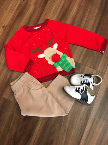 Reindeer Boy Sweater Zubels