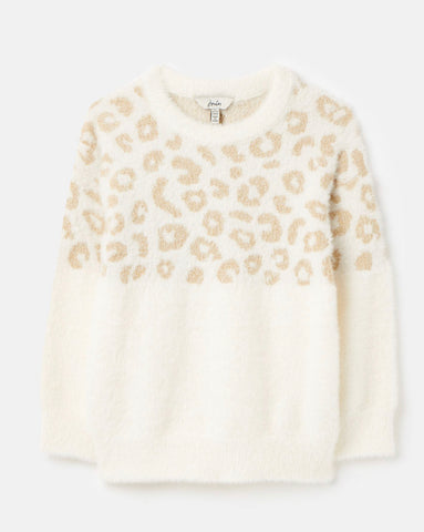 Niamh Gold Leopard Sweater by Joules