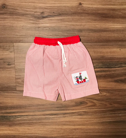 Pirates Smocked Month Swim Trunks Zuccini