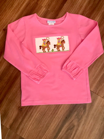 Cowgirl Smocked L/S Tee Vive La Fete