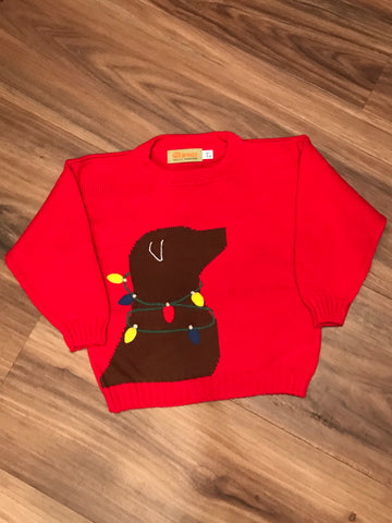 Lab w/Lights Child Sweater Claver