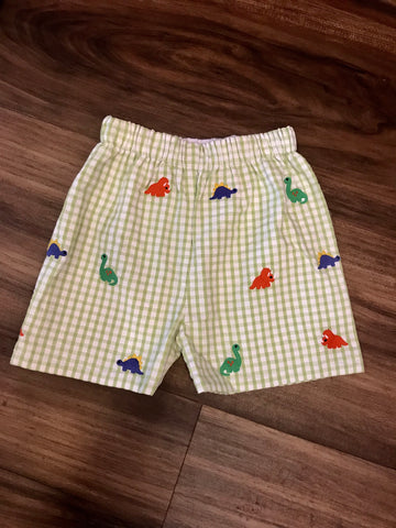 Dino Embroidered Shorts Zuccini