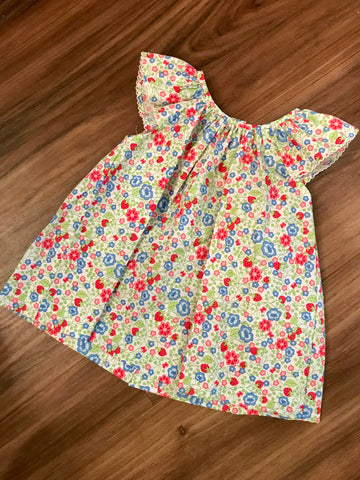 Strawberry Floral Print Blouse Zuccini