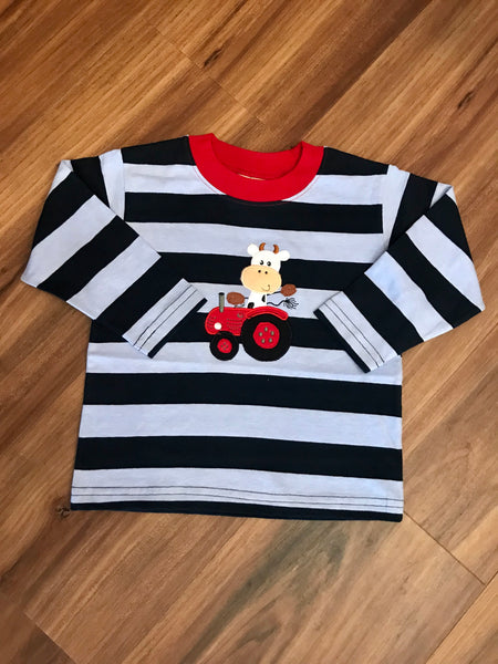 Cow on Tractor L/S Tee Luigi Kids